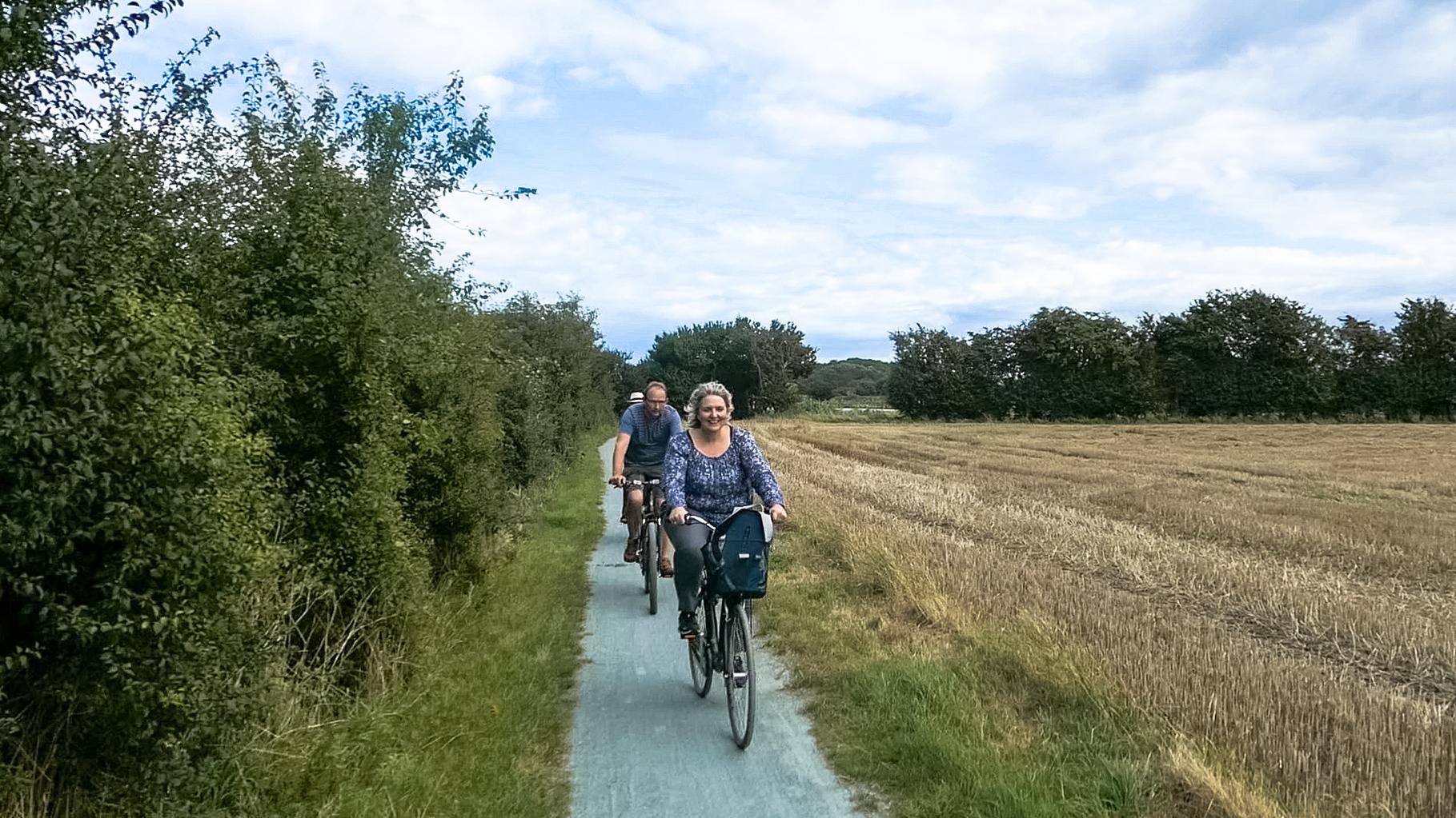 Cykelssti på Ærø