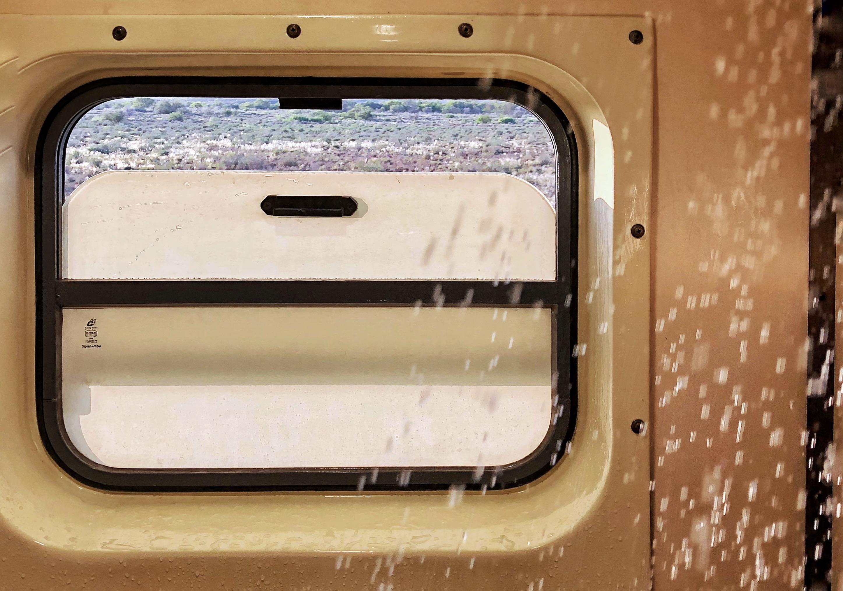 Brusebad i toget