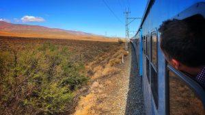 Rejs med tog tværs over Sydafrika fra Johannesburg til Cape Town.
